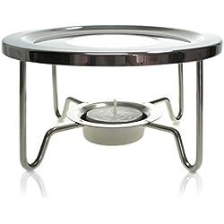 Finum TEA WARMER Tee Stövchen aus Edelstahl - Design Teewärmer für TEA CONTROL & andere Teekannen - Teekannenwärmer für Teelicht - Warmhalter rund