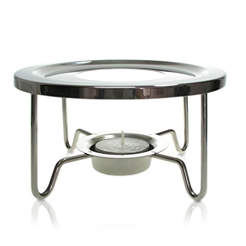 Finum TEA WARMER Tee Stövchen aus Edelstahl - Design Teewärmer für TEA CONTROL & andere Teekannen...