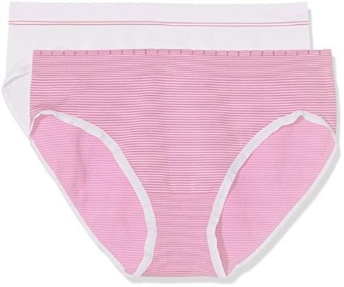 billet-doux-zen-attitude-slip-femme-rose-blanc-blanc-rose-bubble-gum-lot-de-2-46-taille-fabricant-46
