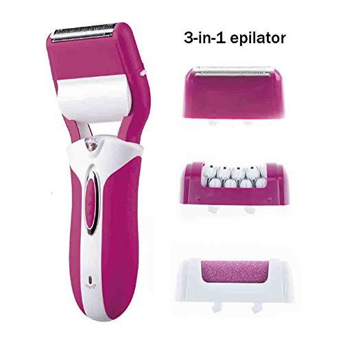 Epilatori 3 in 1 signore elettrico ascelle di depilazione delle gambe dei capelli parti private strumento di rimozione dei capelli ricaricabile piede rettificatrice 220v