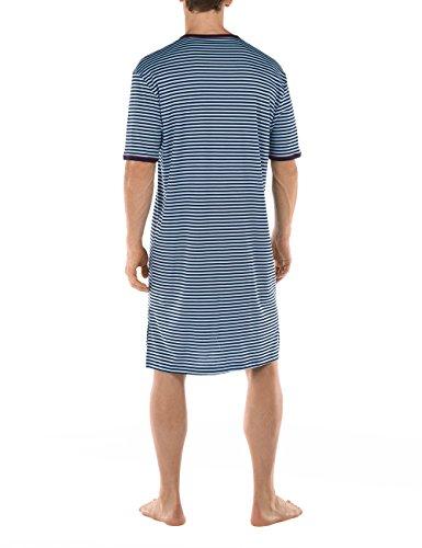 Calida Herren Einteiliger Schlafanzug Sansibar Nachthemd Blau (sky Blue 471)