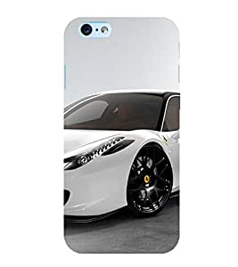 Luxury White Car 3D Hard Polycarbonate Designer Back Case Cover for Apple iPhone 6