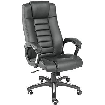 TecTake–Sedia Executive di design. Sedia Girevole. Sedia da ufficio. Poltrona Pelle Sintetico