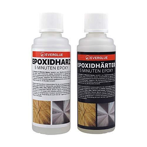 YUKI MODEL EVERGLUE 5-Minuten-Epoxy 200g Epoxidharz 100g Epoxidhärter 100g