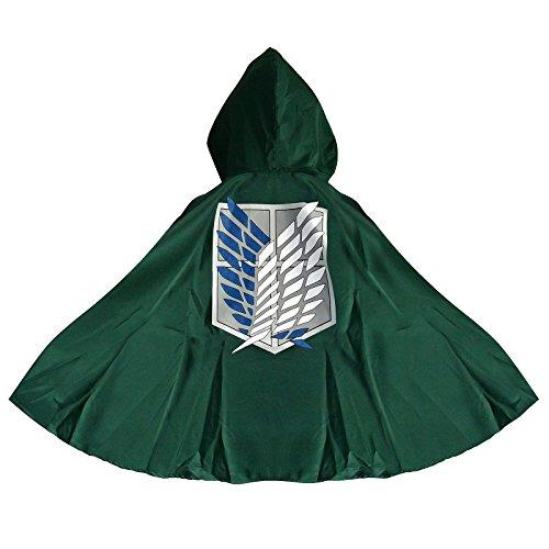 Attack on Titan Levi Ackerman - Scout Logo Cape grün one (Annie Titan Kostüm)