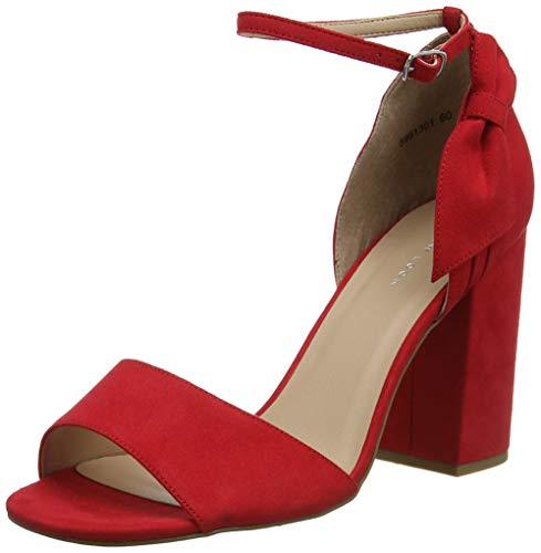 New Look Show, Scarpe col Tacco Punta Aperta Donna, Rosso (Bright Red 60), 39 EU