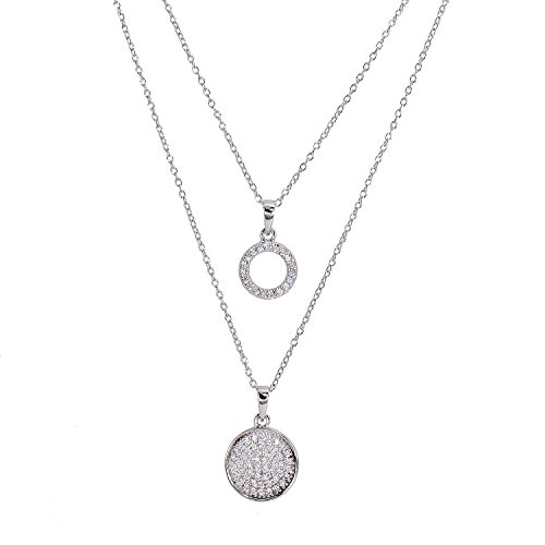 judith-williams-women-double-touch-of-diamond-necklace-sterling-silver-with-white-zirconia-46-cm