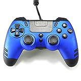 Manette Elite Metaltech filaire pour PS4 avec palettes arrière bleu saphir,...