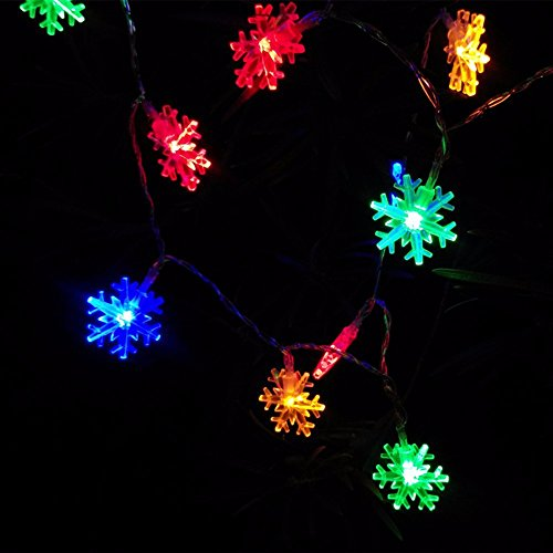 Schneeflocke LED Lichterkette , Morbuy Fenster-Licht für Weihnachten, Partei, Festival, Außen- und Innenbeleuchtung Deckendekoration (Farbe)