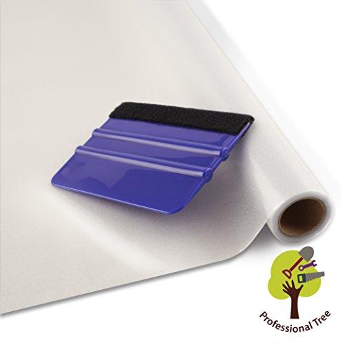 ProfessionalTree® Fenster-Sichtschutz-Folie Milchglas-Folie 90x200 cm - selbstklebend matt - Privatsphäre-Schutz im ganzen Haus - mit Rakel (1 Rolle)
