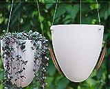 #5: Kurtzy Hanging Self Watering Flower Pot for Garden Planters Indoor Outdoor Living Room Bedroom Balcony Home Decor Assorted Colors Set of 2