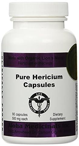 Pure Hericium 500mg capsules, 90 count