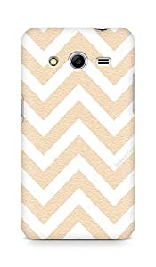 AMEZ designer printed 3d premium high quality back case cover for Samsung Galaxy Core 2 (zig zag pattern)