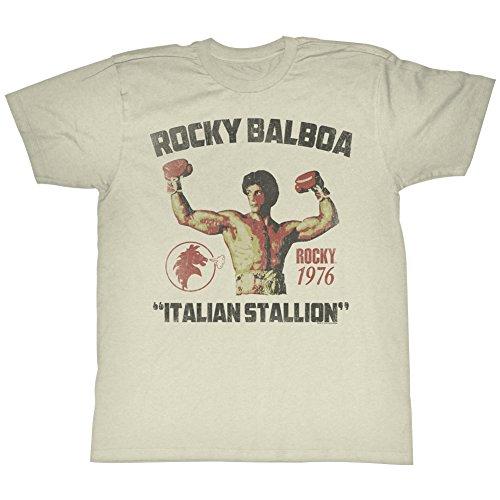 2Bhip Rocky 1970 sport box-film vintage-stil italienische stallion T-shirt für Herren XX-Groß Weiß