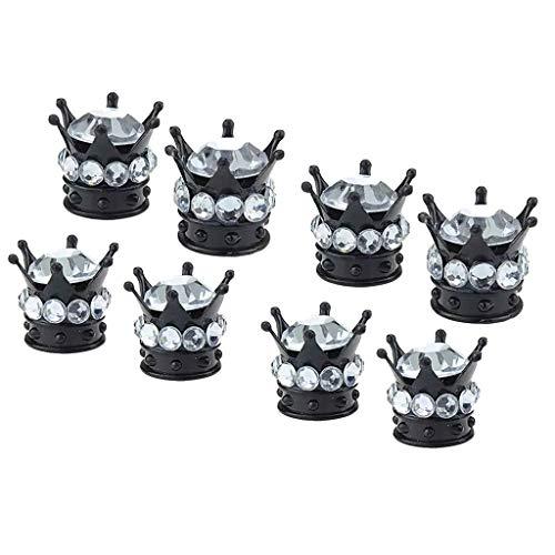 Shiwaki 8 King Queen Crown Reifen/Radventilkappen Ventilkappe Auto LKW Weiß