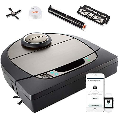 Neato Robotics D750 Saugroboter Premium-Paket, Eckenreinigung mit exklusivem Haustierzubehör für Teppiche und Hartböden, App/Alexa kompatibel