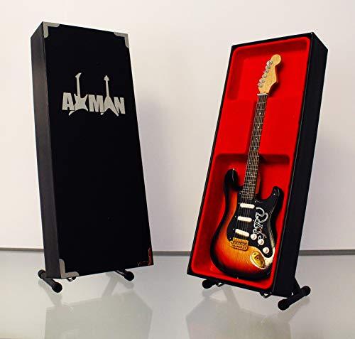 Miniatura Guitarra Replica: Stevie Ray Vaughan-Modelo Mini Rock Memorabilia réplica de madera miniatura guitarra & Libre Pantalla Soporte (vendedor de Reino Unido)