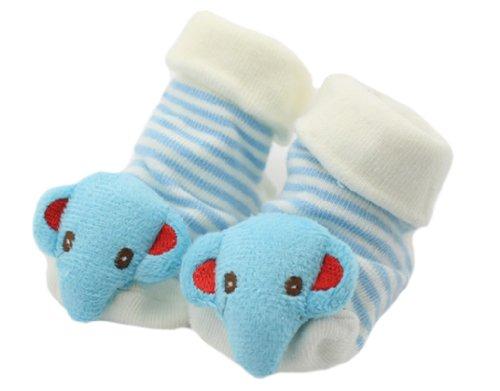 BONAMART ® 3D Anti Rutsch Babysöckchen Stricken Socken Baby Laufsocken Babysocken kindersocken Junge Mädchen Karikatur Schuhe Baumwolle 0-12 Monate - 3d-stricken