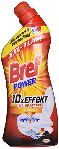 Bref Power WC-KraftGel, WC Reiniger, 2er Pack (2 x 1 Liter)