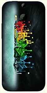 Pretty multicolor printed protective REBEL mobile back cover for HTC One M8 ( M8 ) D.No.N-T-1166-M8