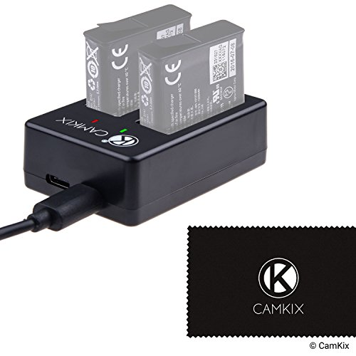 Cargador Dual Pro de CamKix para GoPro HERO 5 Baterias (AABAT-001)