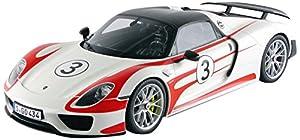 Gt Spirit-gt078-Porsche 918Spyder Weissach Package- 2012-Escala 1/12-Blanco/Rojo