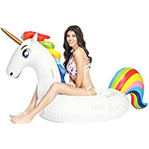 Lady of Luck Hinchable Unicornio, Gigante Juguete Colchonetas Unicornio Inflable Flotador Conveniente para la Fiesta
