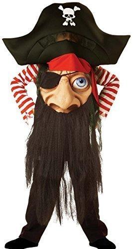 Jungen Piratenkostüm Totenkopf Zauberer Kürbis Mad Hat Halloween Party Outfit - Piraten, 122 - (Hat Piraten Kind Schaum)