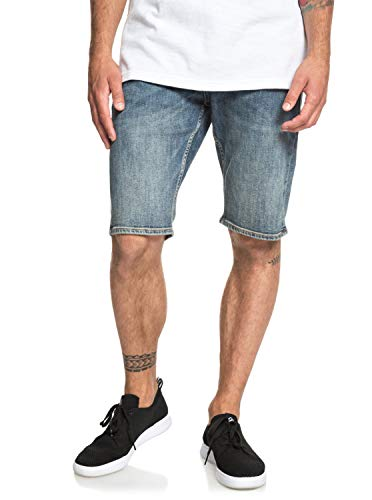 Quiksilver Sequel Medium Blue - Denim Shorts for Men - Denim-Shorts - Männer - Quiksilver Blue Denim