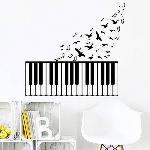 Klassische Musik Klavier Wandaufkleber für Kinder Schlafzimmer Dekor Abnehmbare Raumdekoration Zubehör Wandkunst Aufkleber Vinyl wandaufkleber 43x43 cm (Klassische Für Klavier Halloween Musik)