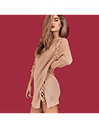 ce91eb2edd8 Amazon.fr   Robe Pull Laine - Robes   Femme   Vêtements