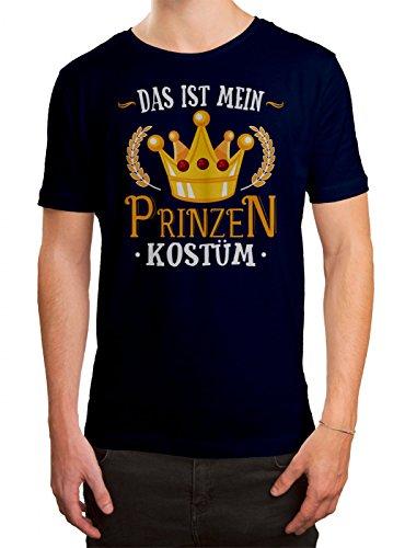 m T-Shirt Verkleidung Karneval Fasching Herren Shirt, Farbe:Dunkelblau (French Navy L190);Größe:XL (Prinzessin Kostüme Für Männer)