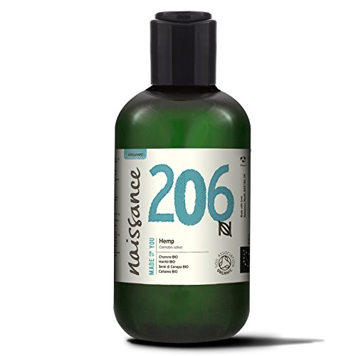 Naissance Organic Cold Pressed Hemp Seed Oil 250ml – Certified Organic, Vegan, Unrefined. Rich in Omega 3, 6 and 9