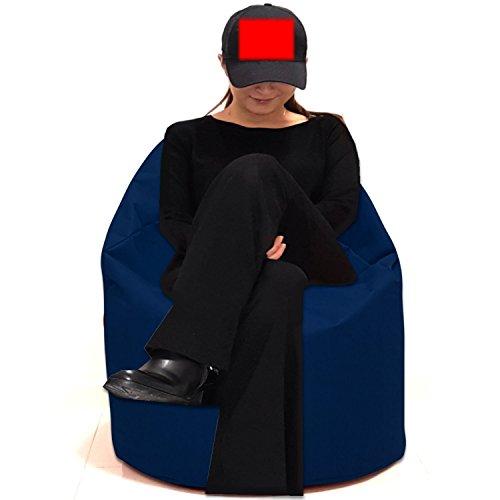 Sitzsack Sitzbag Größe S-M-L-XL-XXL-XXXL mit Styropor Füllung - In & Outdoor - verschiedene Farben & Größen - Bean Bag Sitzkissen Bodenkissen Hocker Kinder Sitzsäcke Möbel Kissen Sessel Sofa (XL - ca.68cm, Marine/Blau)