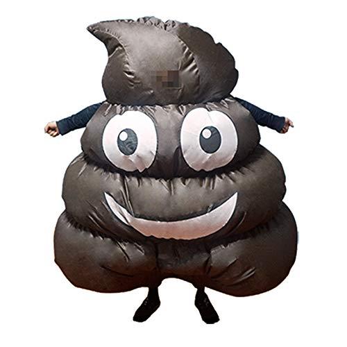 Kostüm Halloween Lustige - thematys Aufblasbarer Kackhaufen Kacke Kostüm - Lustiges Luftkostüm für Erwachsene 165cm-185cm - Perfekt für Karneval, Junggesellenabschied oder Halloween
