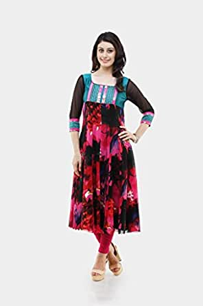 Shakumbhari Women Viscose Wrap Kurtas Kurta (976-Xl _Multi-Coloured _X-Large)