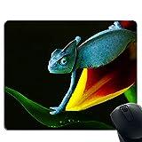 Tappetino per mouse fiore Chameleon, bordo cucito, base in gomma antiscivolo, compatibile con mouse laser e ottico