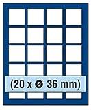 SAFE MÜNZBOX NOVA Nr. 6336 - 20 x 36 mm QUADRATISCHE FÄCHER - IDEAL FÜR 5 DM in Münzkapseln - 5 MARK DDR in CAPS - 5 RUBEL - MÜNZEN, Münzen in Münzkapseln bis Caps 30 mm Münzen bis zu einem Durchmesser von 36 mm - Münzenboxen - Münzboxen - Münzelemente