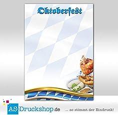 Designpapier Oktoberfest - mit Haxe/100 Blatt/DIN A5/90 g-Offsetpapier