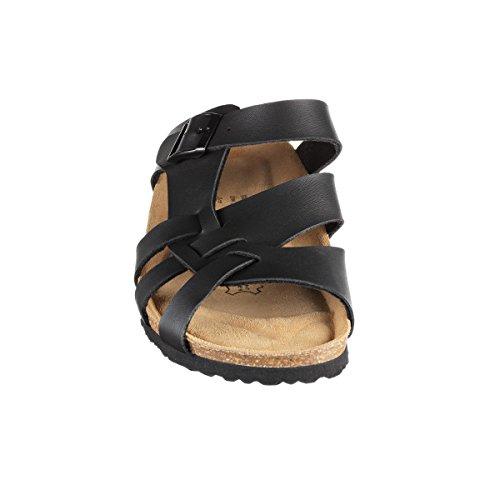 JOE N JOYCE Athen SynSoft semelle souple sandales étroit Black