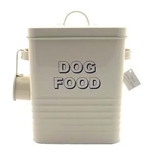 Lesser and Pavey Home Sweet Home Boîte de croquettes pour chien Crème 20 cm