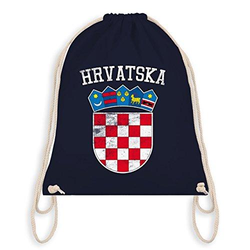 Shirtracer Fußball-Weltmeisterschaft 2018 - Kroatien Wappen WM - Unisize - Navy Blau - WM110 - Turnbeutel & Gym Bag