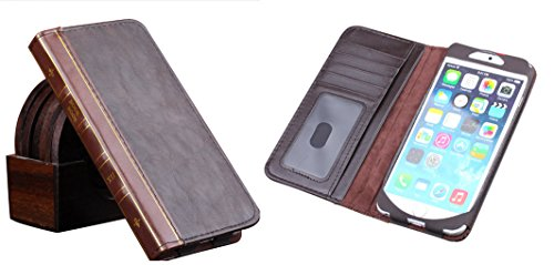 Price comparison product image For iPhone 6 Plus Classic Book Style Vintage Card Wallet Case Cover