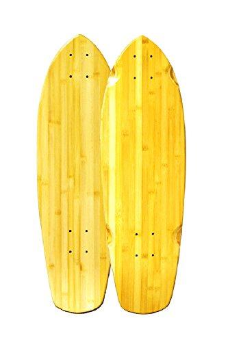 Bambus Skateboards Promenade Skateboard Cruiser, komplett - 9 Decks Blank Skateboard