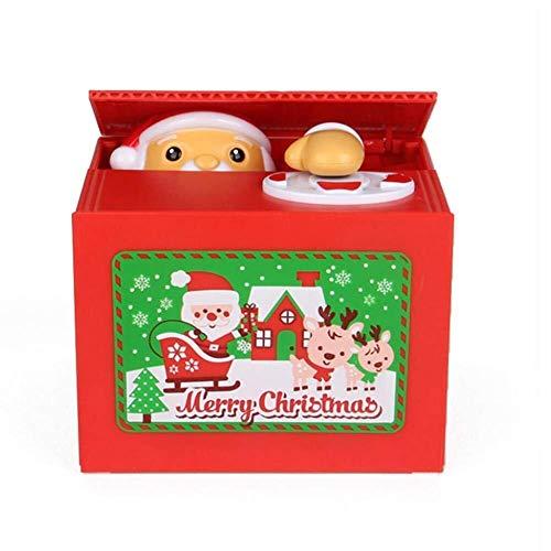 Zleimjab Haushalt Santa Claus, die Münzen-Sparschwein-kreative Geld-Kasten-Geld-Münzen-Bank stiehlt Keramik-santa