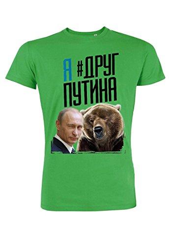 rs54 T-shirt for men Leads Putin's Friend, Größe:XL;Farbe:Green