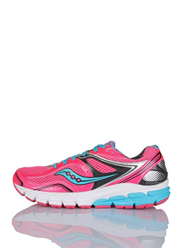 Saucony Women's Lancer Road Running Shoe, Blue/Yellow, 5 M US PINK