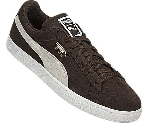 PUMA Men s Suede Classic Sneaker  Mol   White White  13 M US