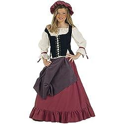 Lima - Disfraz de doncella medieval para niña, talla 9-11 años (MI356)