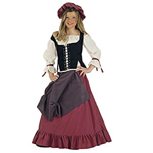 Lima - Disfraz de doncella medieval para niña, talla 11-13 años (MI356)